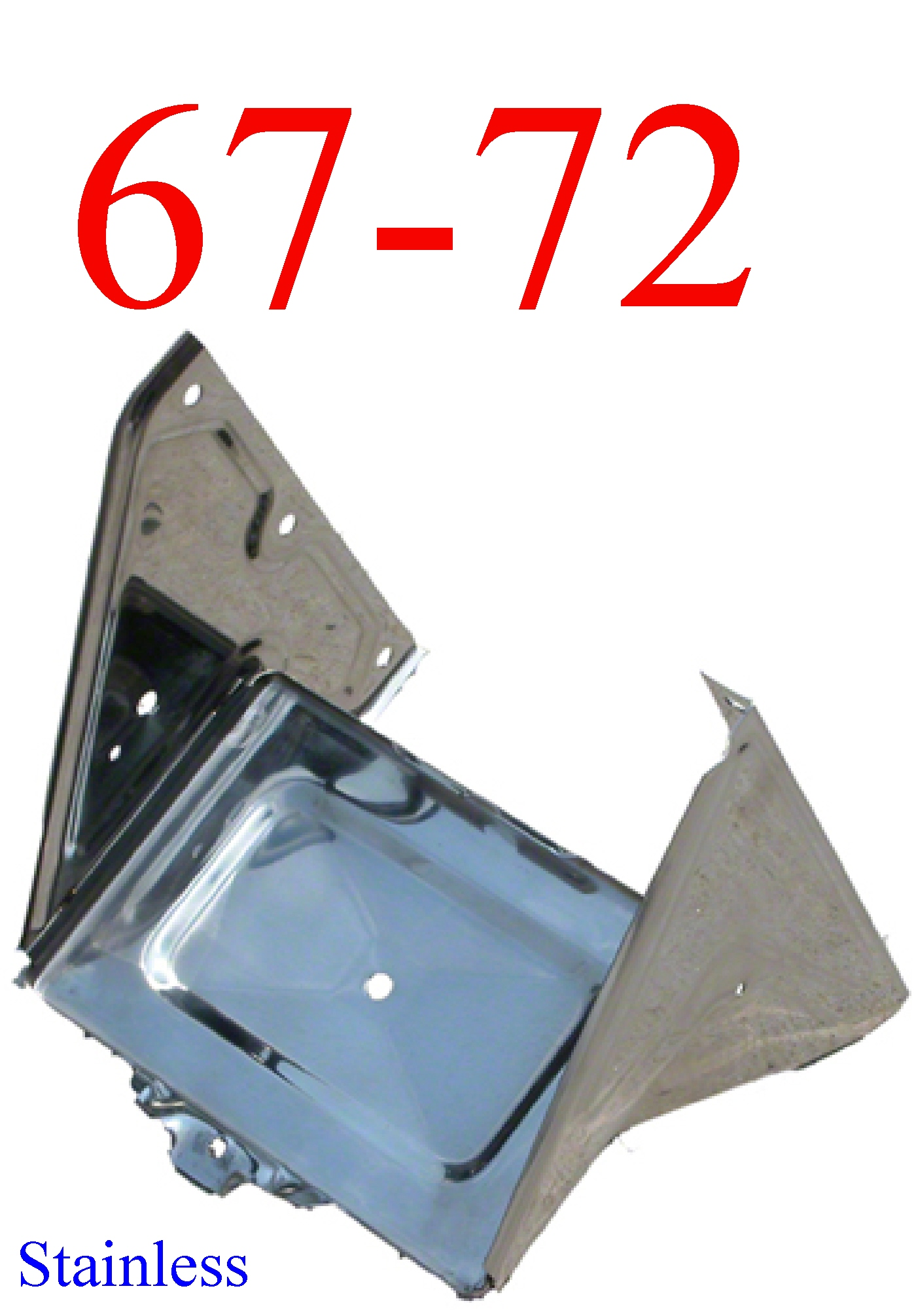 67-72 Stainless Chevy Battery Tray Assembly